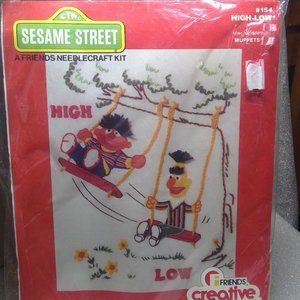 Sesame Street Needlecraft Kit #154 Vtg 1978 NIP
